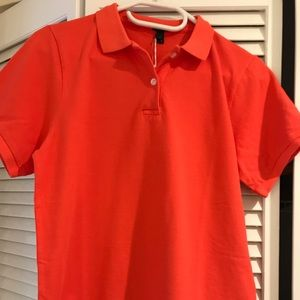 J Crew Garment-dyed piqué polo shirt in orange